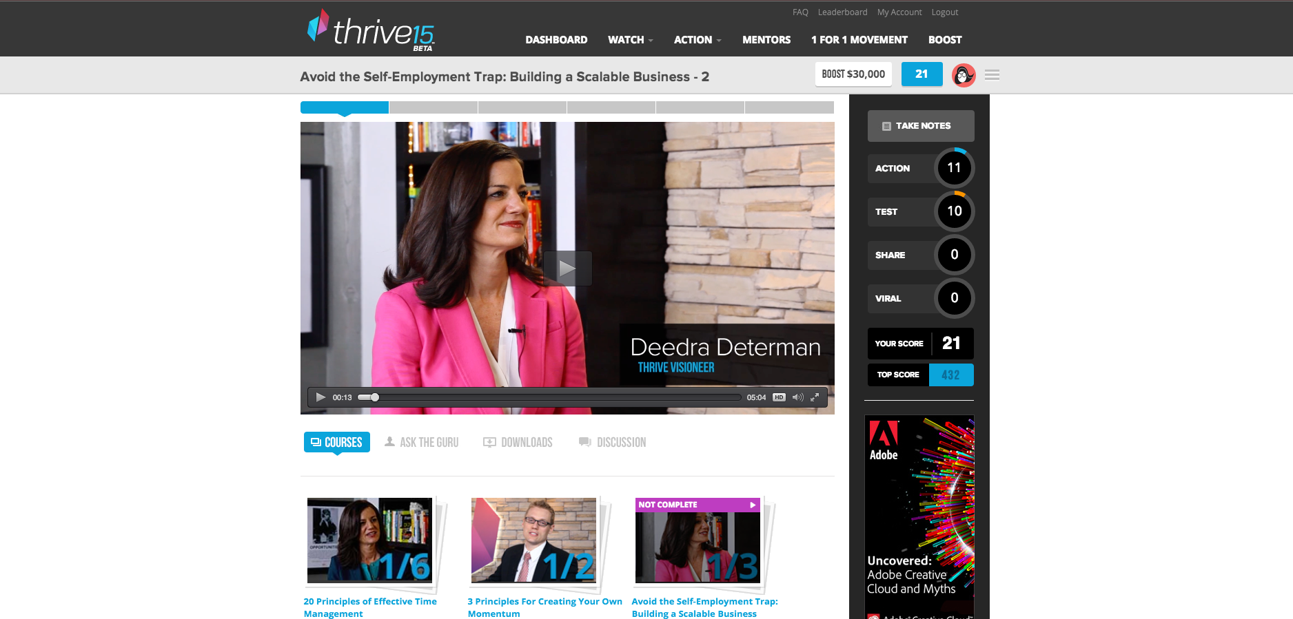 Thrive 15 UI